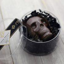 Large dark chocolate skulls