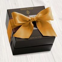 Combo Truffle Fudge Bites Tower with Gold Ribbon