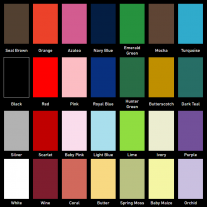 Available Ribbon Colors