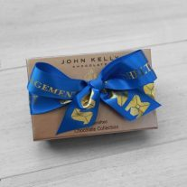 2pc Favor Box with customized ribbon